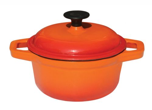 Commichef Round Casserole Dish & Cover Deep Orange - MORE OPTIONS